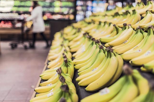 bananas in food markets